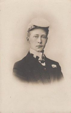 German Crown Prince Wilhelm as student - Corps Borussia Bonn - RARE 1900 pcd