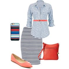 stripes by audreyfultz18 on Polyvore featuring maurices, Brahmin, Gucci and Kate Spade