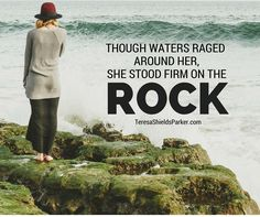 Are you standing? What are you standing on? Is it sinking sand or is it the firm foundation of the ROCK! Stand on His promises. He will see you through this storm too. #standfirm