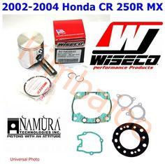 2002 2003 2004 Honda CR 250R Wiseco 66.40 mm STD Bore Piston Gasket