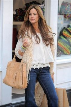 Kelly Bensimon carries the Kristin