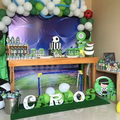 Decoración fútbol Soccer Birthday, Soccer Party, Football Themes, Kids Soccer, Baby Shower Princess, Erika, First Birthdays, Party Themes, Angel