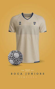 Boca Juniors - Camiseta Suplente 2007 Messi, Sports, Mens Tops, Soccer, Behance, Football, Wallpapers, Women, Team T Shirts