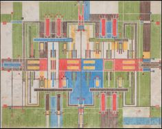 Textile Designs by Frank Lloyd Wright via Creatures of Comfort
