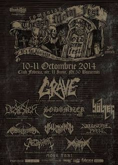 Romanian Thrash Metal Fest 2014 Concert Flyer, Thrash Metal, Chalkboard Quotes, Art Quotes, Flyers, Movie Posters, Punk, Gig Poster, Concerts