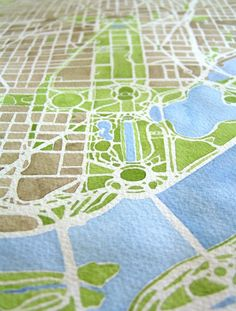 Washington DC City Map Original Watercolor Large 11x17 Hand painted Map on Etsy, $400.00