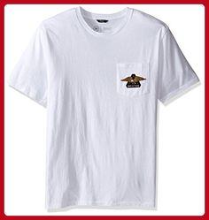 Brixton Men's Turret Short Sleeve Pocket Tee, White, Medium - Mens world (*Amazon Partner-Link)