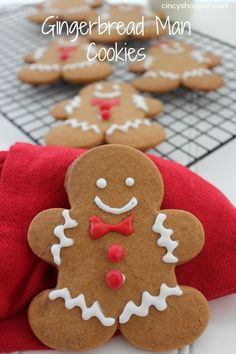 Gingerbread Man Cookie Recipe. A Perfect Christmas cookie. Let the kids decorate and place on the dessert table.