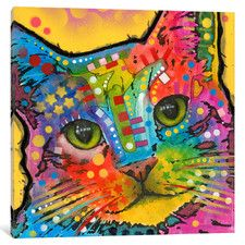 Tilt Cat by Dean Russo Graphic Art on Wrapped Canvas