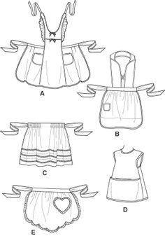 free apron patterns for kids | simplicity 4286 aprons for children aprons for children