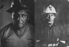 This is meta: photographer Sean Hawkey traveled to a silver mine in Peru and created tintype portraits of the silver miners using the silver they mined as his emulsion.