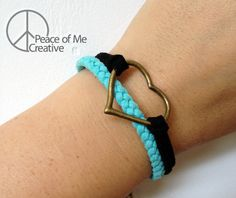 Layered Turquoise Heart Bracelet