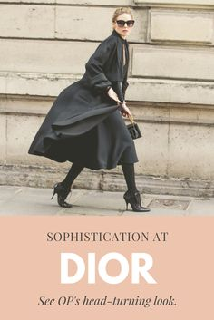 OP nails the classic all-black uniform with sophistication and grace.