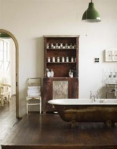 a bit rustic bathroom