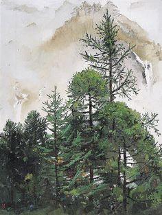 wu guanzhong paintings   WU GUANZHONG - by Christie's