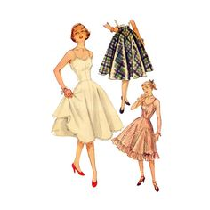 1950s Slip & Petticoat  Fitted Bodice Gored by PatternAndStitch, $22.00