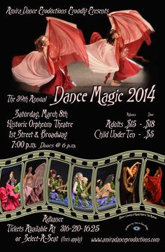 March 7th at Orpheum theater- dances from around the world