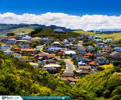 The New Zealand Property Guide looks at the country's best suburban locations an easy commute from the employment hotspots. New Zealand Flights, New Zealand Cities, Visit New Zealand, Property Guide, Moving To New Zealand, Wellington New Zealand, Lush Green, River, News