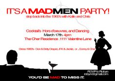 Mad Men invite