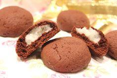 Biscuit au cacao, cœur coco