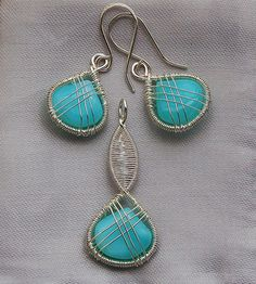 Peruvian opal in sterling and fine silver by izabako, via Flickr