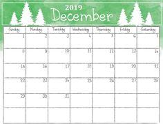 2019 December Calendar Printable Christmas 12 Best December 2019 Printable Calendar images