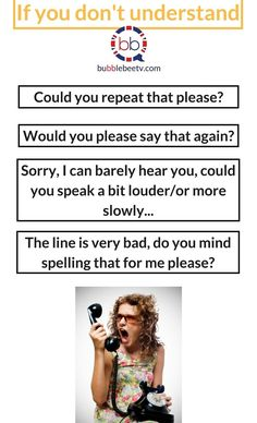 Being on the phone in English | English conversation on the phone | What to say when you don't understand the caller | English communication |