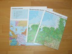 materialwiese: KOSTENLOS: Deutschland- / Europa- und Weltkarte für die Grundschule