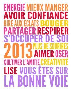 Résolutions 2013 : des mots-clés pour la nouvelle année par Babillage.