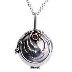 BESTSELLER! The Vampire Diaries Replica Vervain Vervane Antique Patina Silver Locket Necklace with Blood Red Crystal - Elena`s, Stefan... $12.00