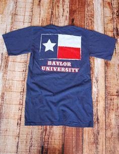 BU Texas Grunge Flag - NAVY at Barefoot Campus