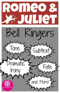 Romeo and Juliet Journals, Bell Ringers, Entry Tasks! Romeo and Juliet Activities, Lesson Plans and Quotes. Click to learn more! Start each day of your Romeo and Juliet Unit with an engaging journal entry. This resource pack includes 14 different entry tasks and answer slides (when applicable). Each bell ringer includes a suggestion on timing. Topics include pre-reading, puns, dreams and Queen Mab, the marriage of Romeo and Juliet, Friar Lawrence, tone, dramatic irony, and more!