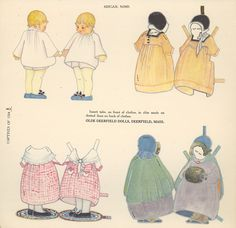 LITTLE CAPTIVES OF 1704 This paper doll series depicts children taken as hostages when the village of Deerfield Mass was caught in Indian/French military fighting. Abigail Nims (1 of 6) / papercollector.blogspot.com