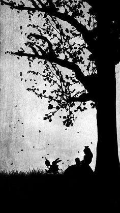 alice, alice in wonderland, and black and white Bild