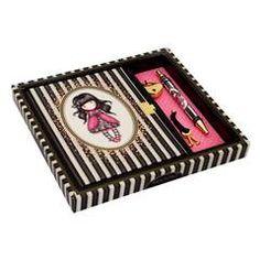 Napló szett tollal - Gorjuss Classic Stripe - Ladybird