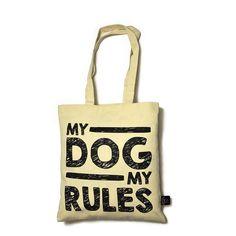 """Torba na ramię """"My dog"""". Wykonana z drelichu o gramaturze 280g/m2 w kolorze naturalnym."""