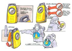 Sketches - Rugged Radio by pave dow, via Behance.