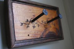 Date nail rustic wall hook  2 nail pegs by bluemountainwoodwork, $75.00