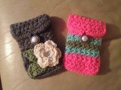 Crochet cell phone cases