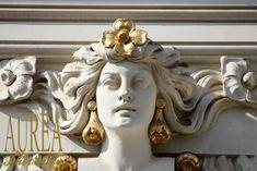 """Art of Jugendstil – The """"Cottage Hof"""" Apartments Vienna, Apartments, Cottage, Statue, Casa De Campo, Cabin, Cottages, Sculpture, Luxury Apartments"""
