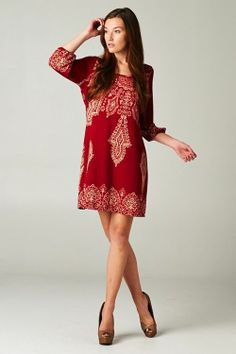 Margaret Dress in Ruby | Awesome Selection of Chic Fashion Jewelry | Emma Stine Limited