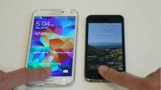 Samsung Galaxy S5 iPhone 5S Fingerprint Side by side