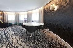 Location: Novotel Porte d'Orleans, France. #tomdixon #carpetdesign #tide #designcollaboration #egecarpets