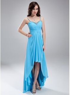 Special Occasion Dresses - $135.99 - A-Line/Princess Sweetheart Asymmetrical Chiffon Homecoming Dress With Ruffle Beading  http://www.dressfirst.com/A-Line-Princess-Sweetheart-Asymmetrical-Chiffon-Homecoming-Dress-With-Ruffle-Beading-022010410-g10410