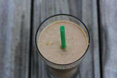 Pumpkin spice smoothie :) 1/2 cup pumpkin (canned or freshly cooked) 1/2 frozen banana 3/4 cup almond milk 1/2 scoop (or approx. 2 T) vanilla protein powder 1 tsp cinnamon 1/2 tsp pumpkin pie spice pinch of ground ginger