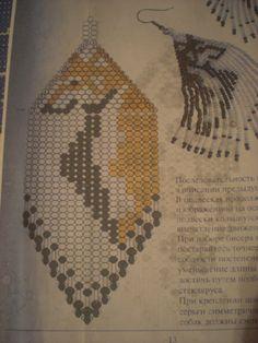 """Схема (Бисероплетение) - Серьги """"Колли"""" - 17.12.2011 23:19 - от пользователя darina bendova (id2583) - ItsMyArt"""