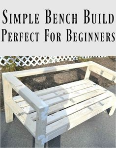 This 2x4 bench looks so easy to build! No fancy cuts, no complicated instructions. And all you need is 12 2x4 boards! Even I can handle that!