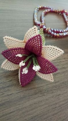 Diy Crafts - Your email address will not be published. Needle Tatting, Tatting Lace, Needle Lace, Crochet Beret Pattern, Lace Knitting Patterns, Beaded Flowers, Crochet Flowers, Cross Stitch Flowers, Flower Crafts