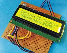 This serial LCD module can convert any alphanumeric LCD display to a serial LCD which communicates with the main controller. Electronics For You, Electronics Projects, Hack Internet, Pic Microcontroller, Communication Techniques, Arduino Programming, Arduino Board, Serial Port, Circuit Diagram