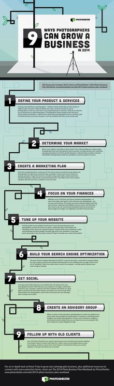 9 Ways Photographers Can Grow A Business In 2014 #infographic